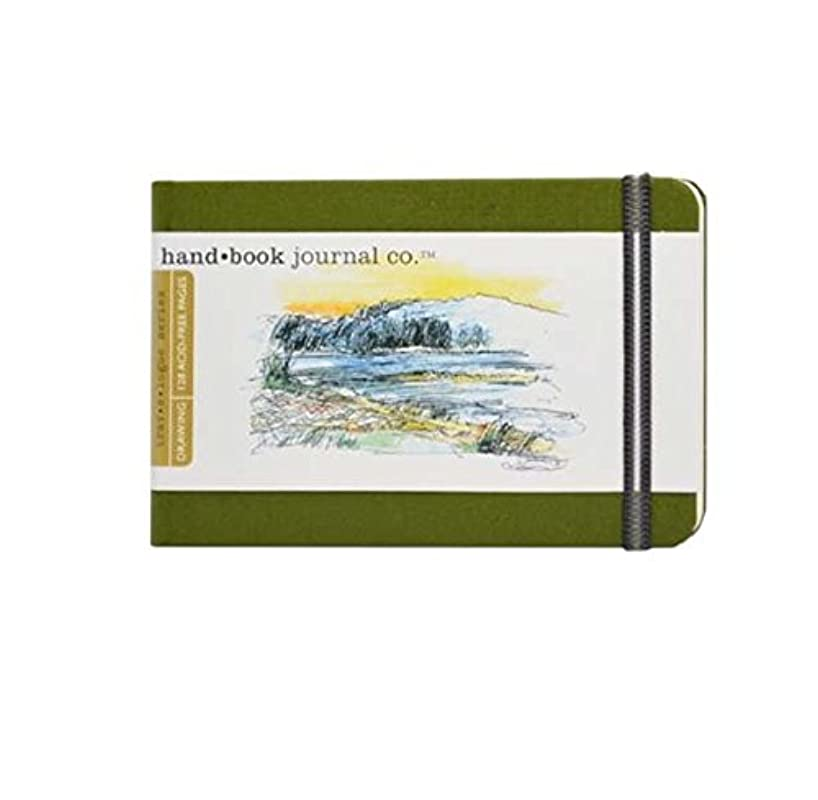 Hand-Book Journal Co. Travelogue Journal Landscape Cadmium Green 3.5x5.5