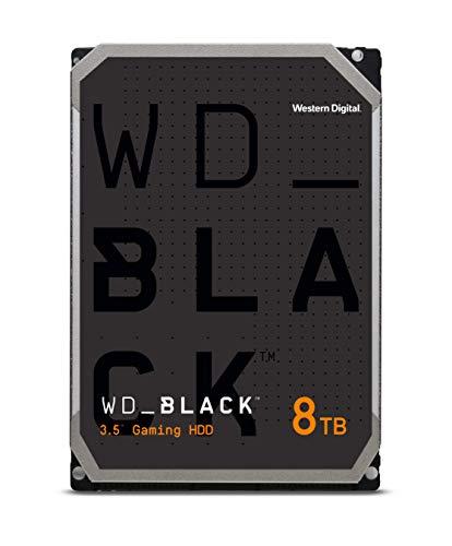 """Western Digital WD_BLACK Disco Rigido Interno, Prestazioni 3.5"""" - Classe 7.200 RPM, SATA 6 Gb/s, Cache 256 MB, Nero, 8 TB"""