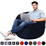 AmazonBasics Memory Foam Filled Bean Bag Chair with Microfiber Cover - 4', Blue