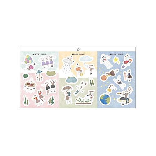 BLOUR 3 unids/Lote Nueva Serie de Tiendas románticas Pegatina de papelería álbum decoración de lácteos Pegatina de álbum de Recortes DIY