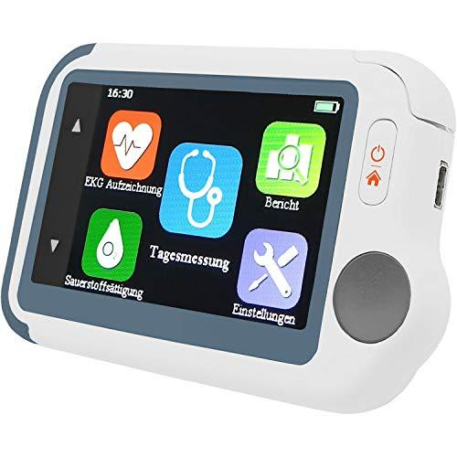 Pulox by Viatom Checkme Lite Tragbarer Vitalcheck EKG Monitor mit Pulsoximeter