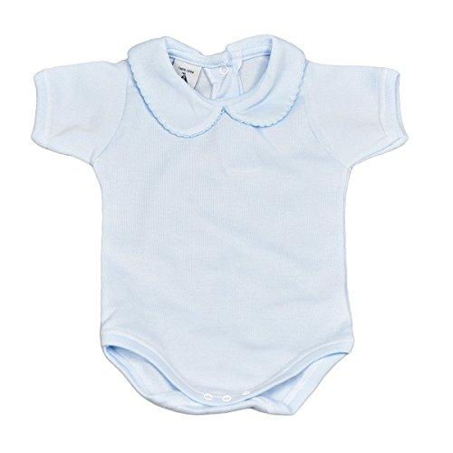 BABIDU 1192 Body Cuello Bebe Manga Corta Ropa de Bautizo, Azul (Celeste 2), 98 (Tamaño del Fabricante:36) Unisex bebé
