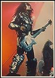 yitiantulong Heavy Metal Kiss Rock Band Carteles Equipo De Música Estrella Clásica Pintura Decorativa Cartel Pared Pegatina Arte De Pared 50X70Cm Sin Marco(A5348)