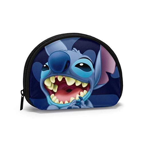 Lilo Stitch Women Girls Coin Purse Change Cash Bag Zipper Small Shell Purse Wallets Small Makeup Bags Jewelry Pouch Key