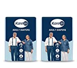 "Kare In Adult Diapers Large 10 Count, Waist Size 101-139 cm (40""-55"")-Pack of"