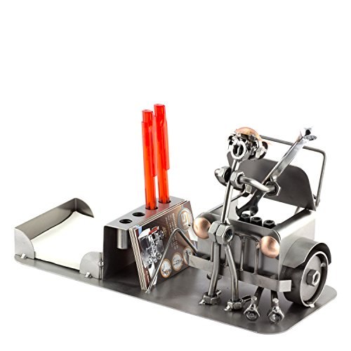 Steelman24 I Schraubenmännchen Automechaniker Büro Organizer I Made in Germany I Handarbeit I Geschenkidee I Stahlfigur I Metallfigur I Metallmännchen