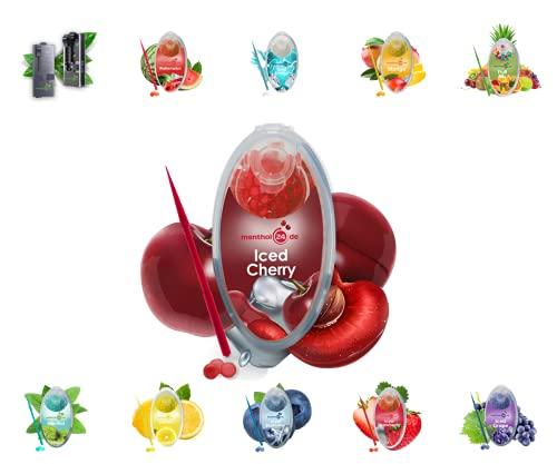 menthol24de Aroma Kapseln verschiedene Sorten (Iced Cherry, 100)