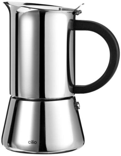 Cilio Espressokocher Rigoletto 4 Tassen, Edelstahl, Induktion geeignet