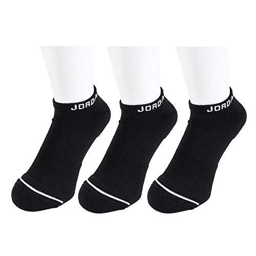 Nike Herren Jumpman No-Show 3Ppk Socken, Black (Schwarz), L