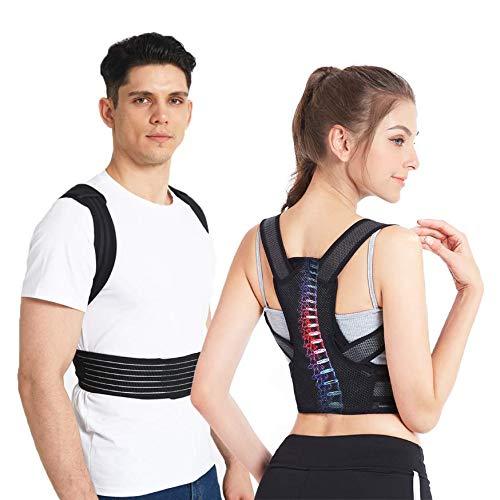 Slimerence Rücken Haltungskorrektur, Haltungskorrektor für Wirbelsäule und Rückenstütze, Haltungstrainer für Damen, Herren und Child Lindert Rücken- und Schulterschmerzen M