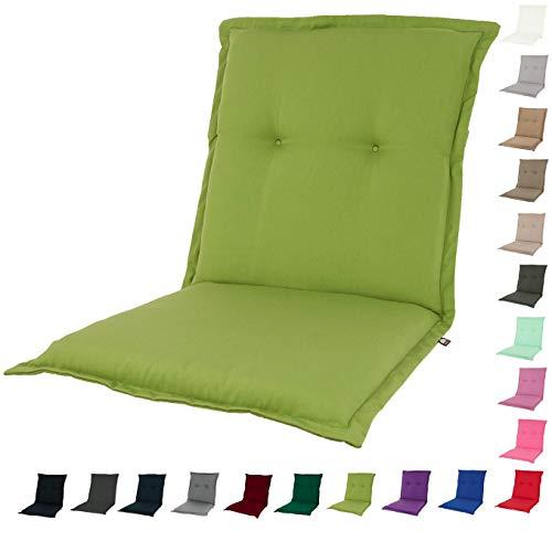 KOPU® Niedriglehner Auflage Prisma Office Green | Auflagen für Gartenstühle | Grün Garten Kissen 100 x 50 cm | 19 Einfache Farben | Robuster Schaumstoff für zusätzlichen Komfort