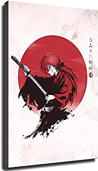 Rurouni Kenshin Poster Painting And Prints Decorative Modern Wall Art Canvas Pictures for Living Room Home Decoration  Framed,24x36inch