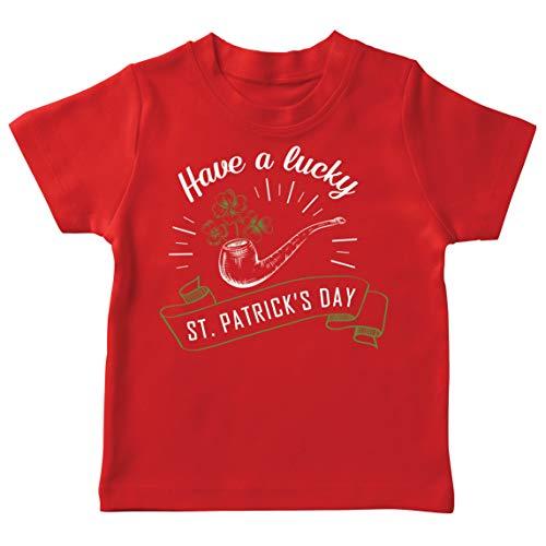 lepni.me Camiseta para Nios Feliz Da de San Patricio en Irlanda Suerte Charms Fiesta Regalo (12-13 Years Rojo Multicolor)