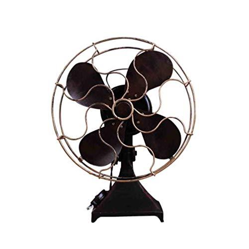 VOSAREA Vintage Tafelventilator IJzer Retro Staande Ventilator Model Huishoudelijke Casual Desktop Ventilator Craft Photo Props voor Home Slaapkamer Decoratie