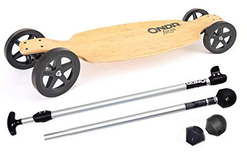 Landpaddling-Set - Offroad-Longboard Onda Longa von Onda Motion + Onda-Landpaddling-Stick Aluminium