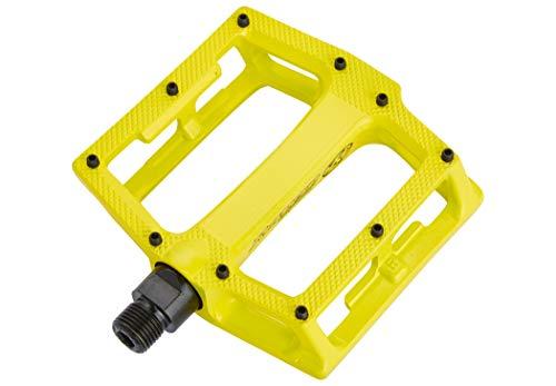 Reverse Super Shape 3D Flat Fahrrad Pedal gelb