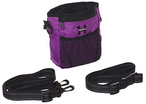 Best Price Purple Dog Treat Bag – Treat Training Pouch for Small, Medium and Large Dogs with Built...