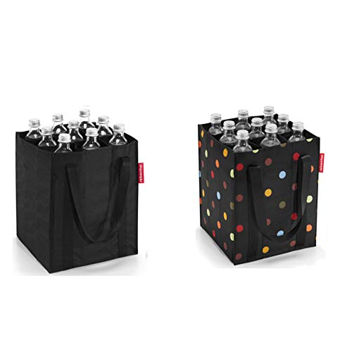 reisenthel 2er Set Flaschenträger/bottlebag (Black/dots)