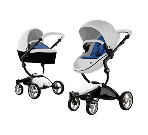 Best Deals! Mima Xari Stroller (Black Chassis, White Seat, Denium Bloe Starter Pack)