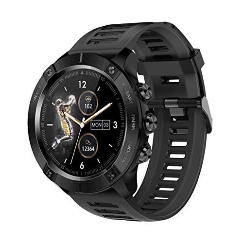 QIXIAOCYB Reloj inteligente para hombre MC01 GPS Fitness Tracker ritmo cardíaco Monitoreo de presión arterial pulsera IP68 impermeable deportes smartwatch para iOS Android teléfono, B,