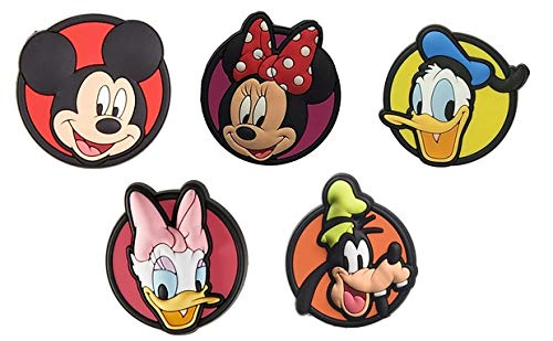 Crocs Unisex-Adult Disney Mickey Mouse and Friends 5 Pack Shoe Decoration Charms, Multicolour, One Size