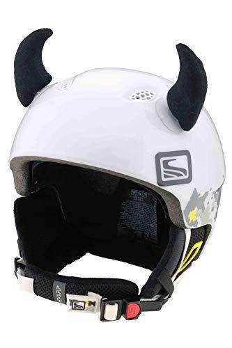 Crazy Ears Schwarze Hörner | Helmmütze Helm-Ohren Helm Aufkleber | Teufel Hörner, CrazyEars:Schwarze Hörner Klein (6cm)