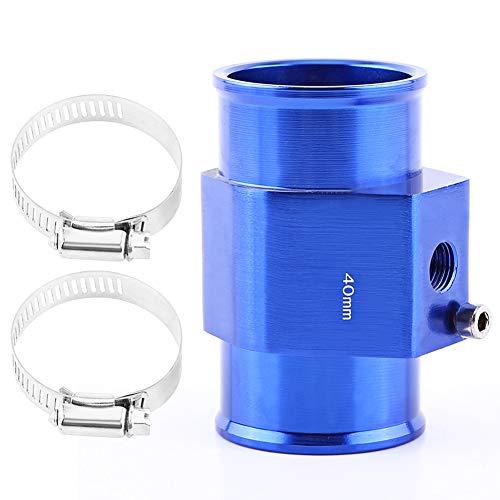 VGEBY Auto Wasser Temp Temperatur Gemeinsame Rohr Sensor Aluminum Kühlerschlauch Adapter 26-40MM Blau ( Abmessung : 40MM )