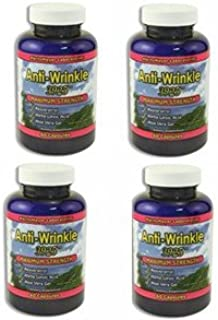 (4) Anti-Wrinkle Max Supplements 240 capsules w/Resveratrol, Alpha Lipoic Acid, Collagen, DMAE, Hyaluronic +Pills