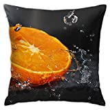 Funda de almohada decorativa para el hogar, diseño de Makro Apelsin Kapli, color naranja
