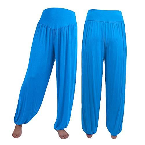 YEESEU Plus tamaño de Mujeres Sporting Llamarada de Yoga Pantalones elásticos Pantalones Casuales mullida del algodón Suave de Baile Deportes Pierna Ancha de Gran tamaño Pantalones Mujer