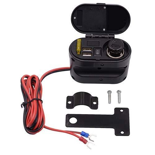 Chargeur USB 5V 2.1A, Chargeur Adaptateur Secteur, Système De Charge USB, Avec Prise De Port D'alimentation Pour Allume-Cigarette Pour Tablettes GPS