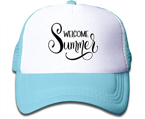 Voxpkrs Welcome Summer 1 On Boys and Girls Trucker Hat, Youth Toddler Mesh Hats Baseball Cap Comfortable31779