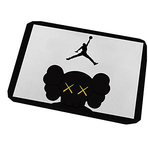 YangMeng Door Mat Rug, Basketball Star Boy?s Room Decoration Carpet, A Gift for Basketball Fans,Absorbent Non-Slip Bathroom Living Room Carpet In Front of The Bed (02,50 * 80cm)