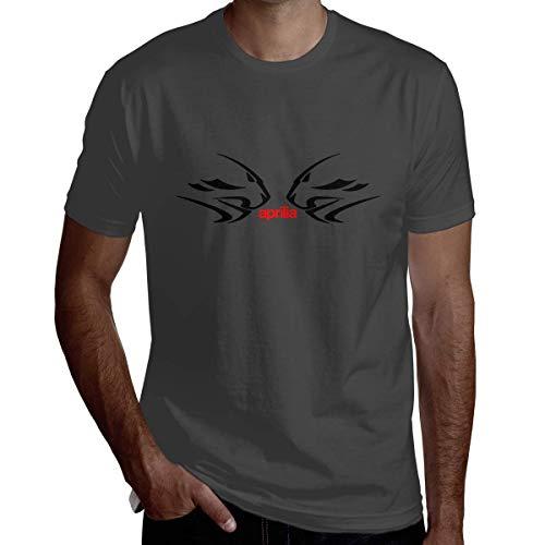 Benutzerdefinierte Aprilia Motorräder Lion HeadLogo T-Shirt für männliche Kurzarm Deep Heather