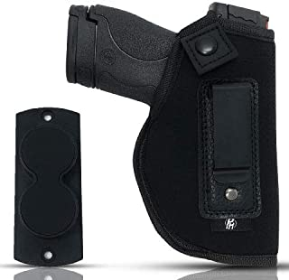 Combo IWB Gun Holster + Free Magnet - by PH | Concealed Carry | Soft Interior | Fits M&P Shield 9mm.40.45 Auto/Glock 26 27 29 30 33 42 43 / Ruger LC9, LC380 | Taurus Slim, PT111 | Springfield XD