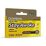GoodSense Stay Awake, Caffeine Alertness Aid, Caffeine 200 mg, Aids in Mental Alertness