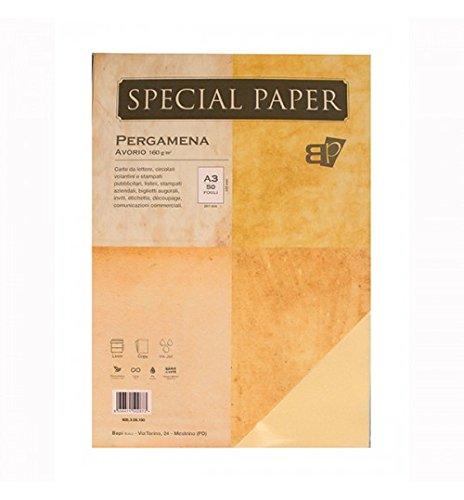 Carta Bapi Pergamena Avorio A3 160gr. 50 pz.