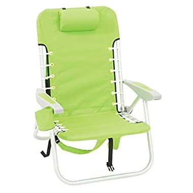 Rio Beach Lace-Up Suspension Folding Beach Chair, Solid Lime