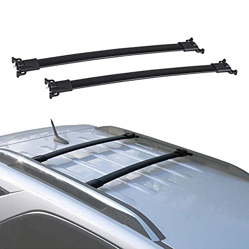 Car Roof Rack Cross Bars Replacement for 2010 - 2017 Chevy Equinox GMC Terrain with Side Rails,Aluminum Cross Bar for Rooftop Cargo Carrier Luggage Canoe Kayak Snowboards skis Bikes