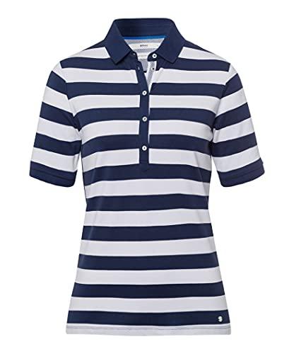 BRAX Damen Style Cleo Polohemd, Indigo, 40
