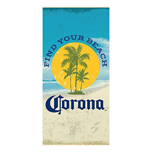 "Franco Super Soft Cotton Designer Beach Towel, 30"" x 60"", Corona"