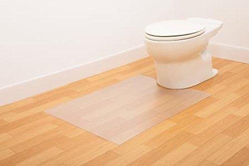 日本製 お掃除簡単 拭ける トイレマット 半透明タイプ(ロングサイズ 幅60×奥行90cm)