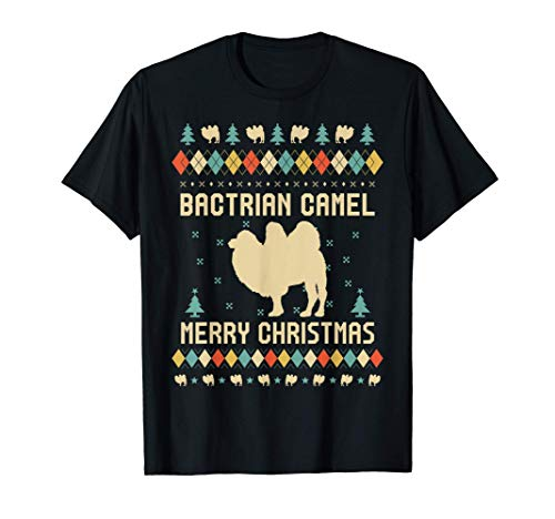 BACTRIAN CAMEL Funny Ugly Christmas Sweater Vintage Retro T-Shirt
