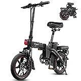 F-wheel A5 Bicicletta Elettrica Pieghevole, 14 Pollice 350W Bici Pedalata Assistita per Adulti, 48V 7.5Ah Rimovibile Batteria 35-50KM, LCD, Sospensione, Portatile Ebike Città con Chiave Wireless