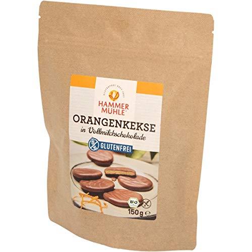 Hammermühle Orangenkekse in Vollmilchschokolade, glutenfrei (150 g) - Bio