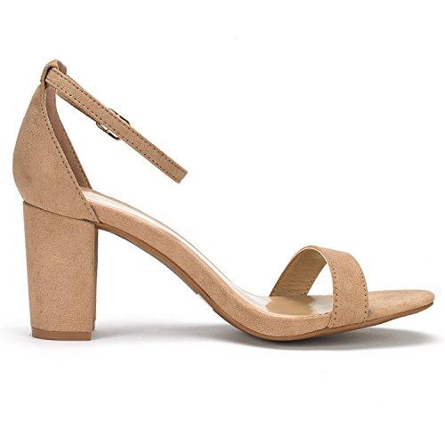 DREAM PAIRS Womens Chunk Low Heel Pump Sandals DREAM
