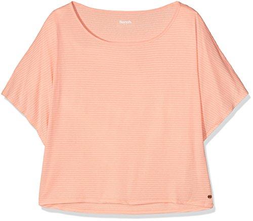 Bench Damen T-Shirt Slinky Active Tee, Coral Pink, XL, BLGF0202
