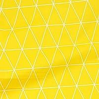 生地 北欧 DIY手作り ハンドメイド カットクロス 生地 ハギレ パッチワーク 生地 布地 平織り 綿地布 綿 プリント生地 綿 雨の雲 160cm*2m(格子系・黄色)