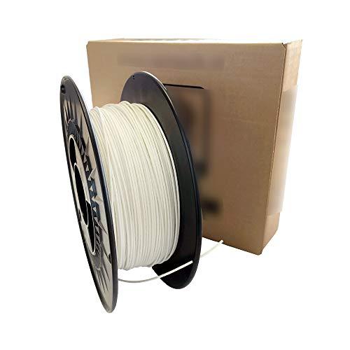 Filamento Stampante 3D - Filamento PLA 400 Gesso Color Bianco Naturale - 1,75mm - Peso 1000 gr (1 Kg) - Stampa 3D