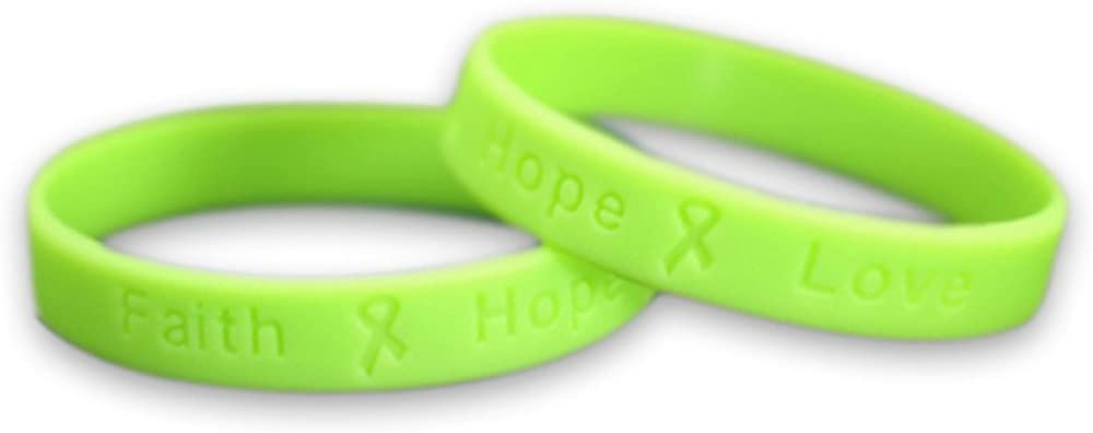50 Pack Muscular Outlet SALE Dystrophy Awareness Lime Bracele Selling rankings Silicone Green